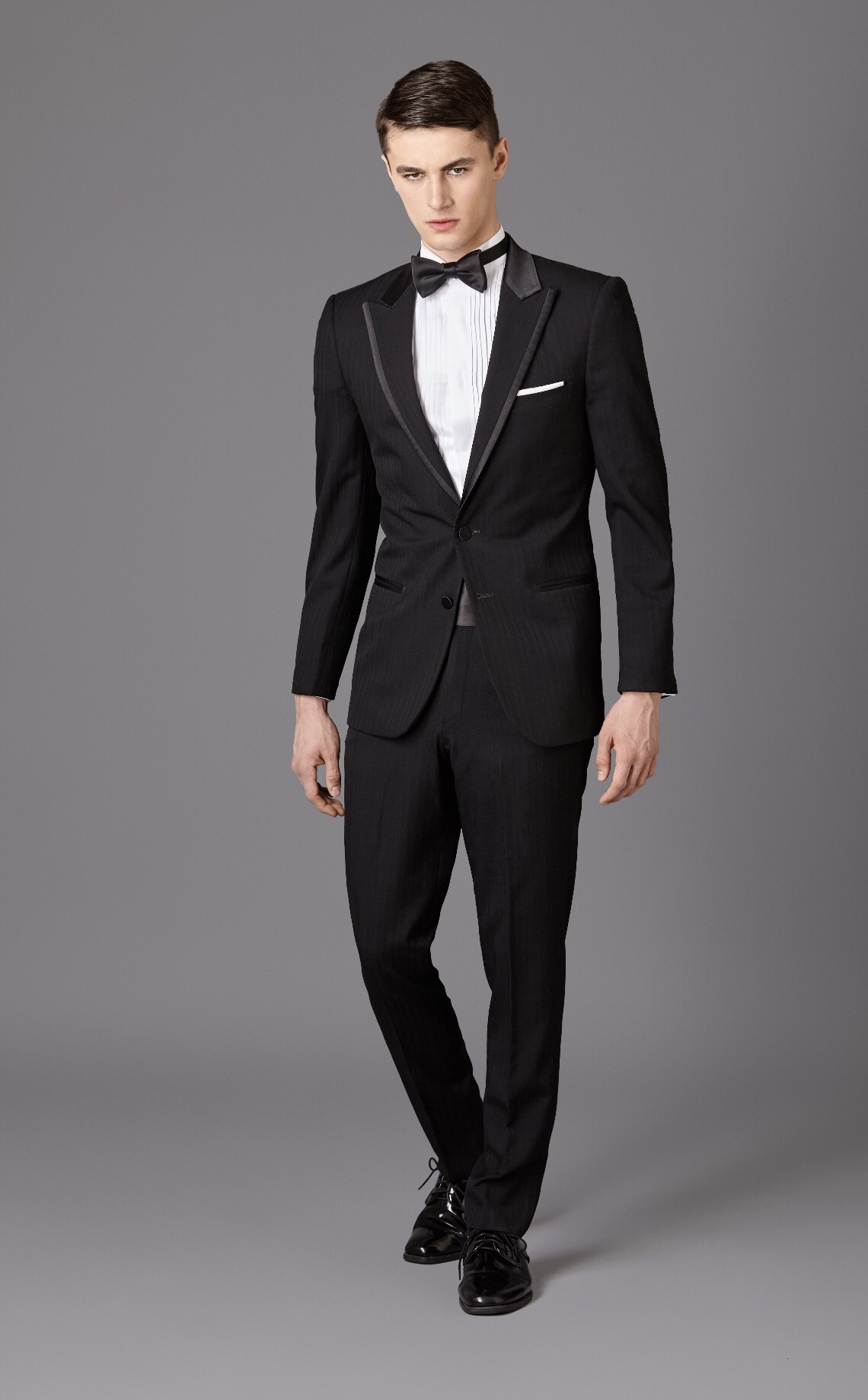Black Shadow Stripe Tux