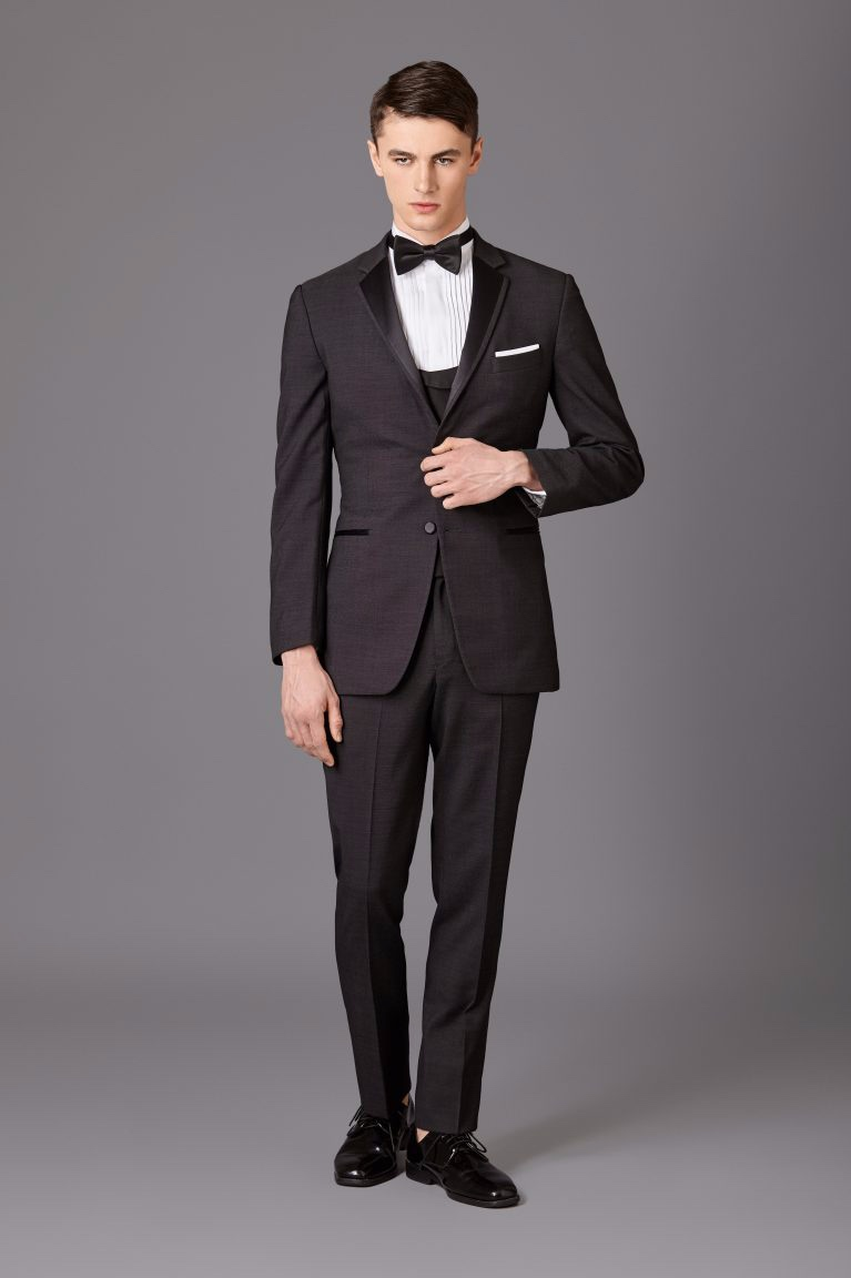 Charcoal Nailhead Tux