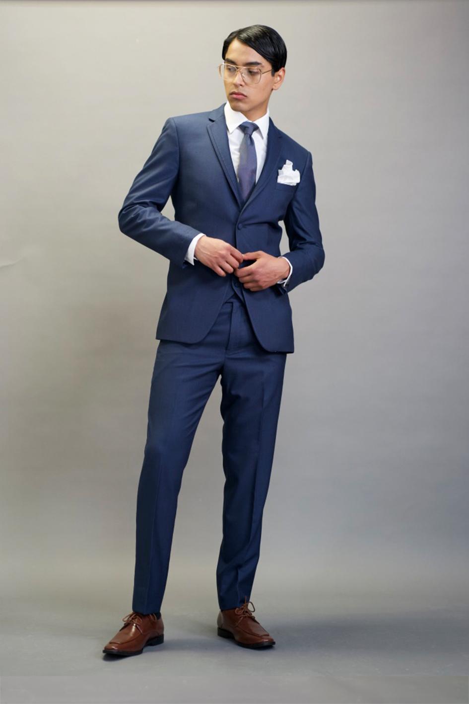 Modern Blue Suit