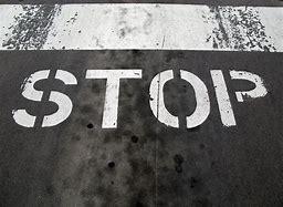 stop road