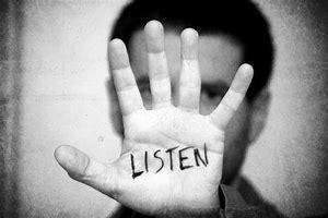hand boy listen