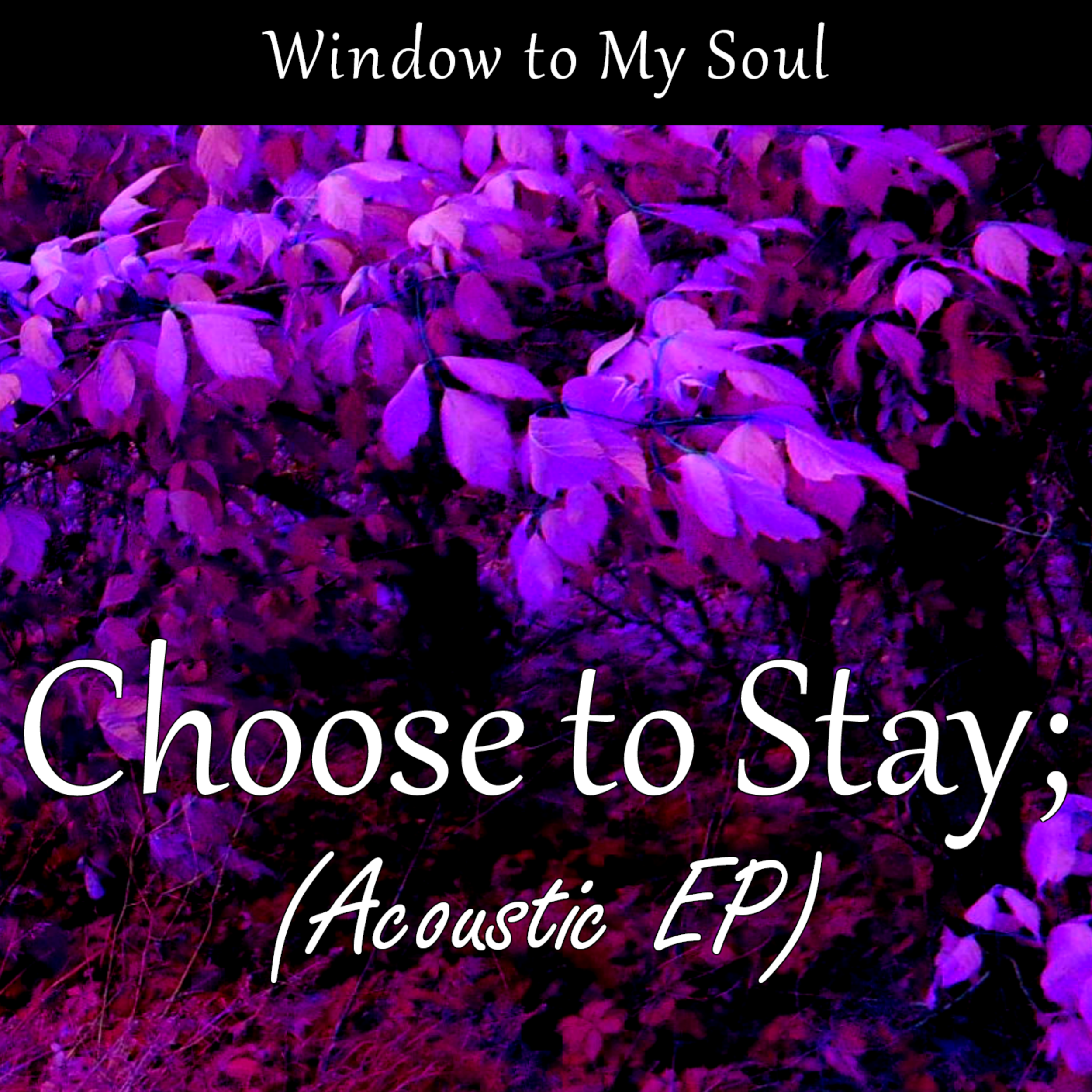 Choose to Stay; - WINDOW TO MY SOULAcoustic EP (2017)Spotify | iTunes | Google Play | Amazon Music | TIDAL