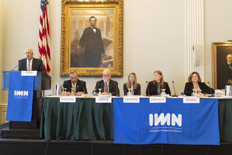 ELFA/IMN Panel (L-R): Ralph Petta, Anthony Cracchiolo, Christopher Gillock, Lauren Lannefeld, Joanne Desimone, Melanie Gnazzo