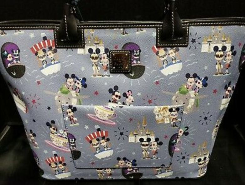 Disney Dooney Bourke Mickey & Minnie Hipster Disney attractions Tote NEW NWT.png