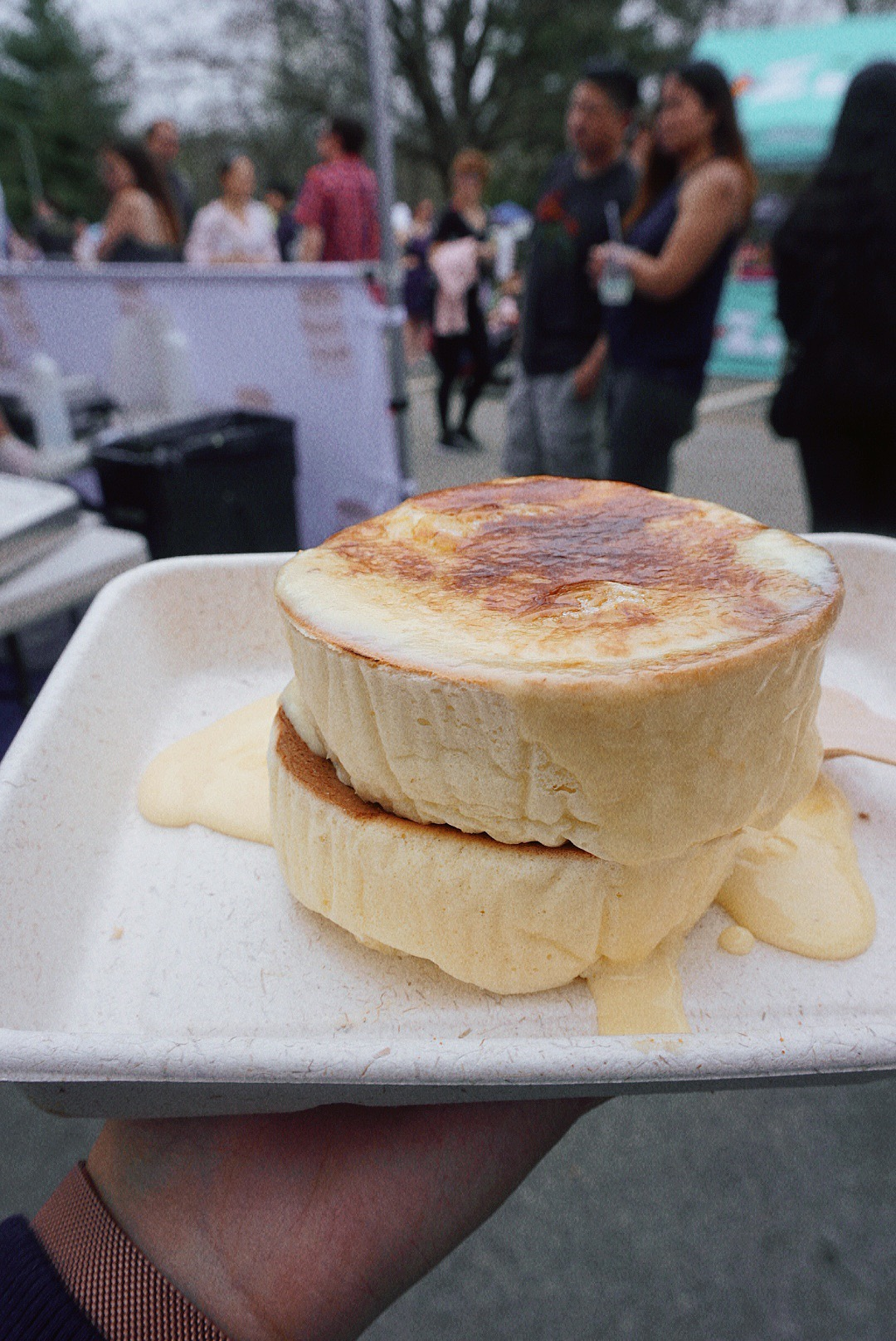 Crème Brûlée Fluffy Pancakes from Fluffy
