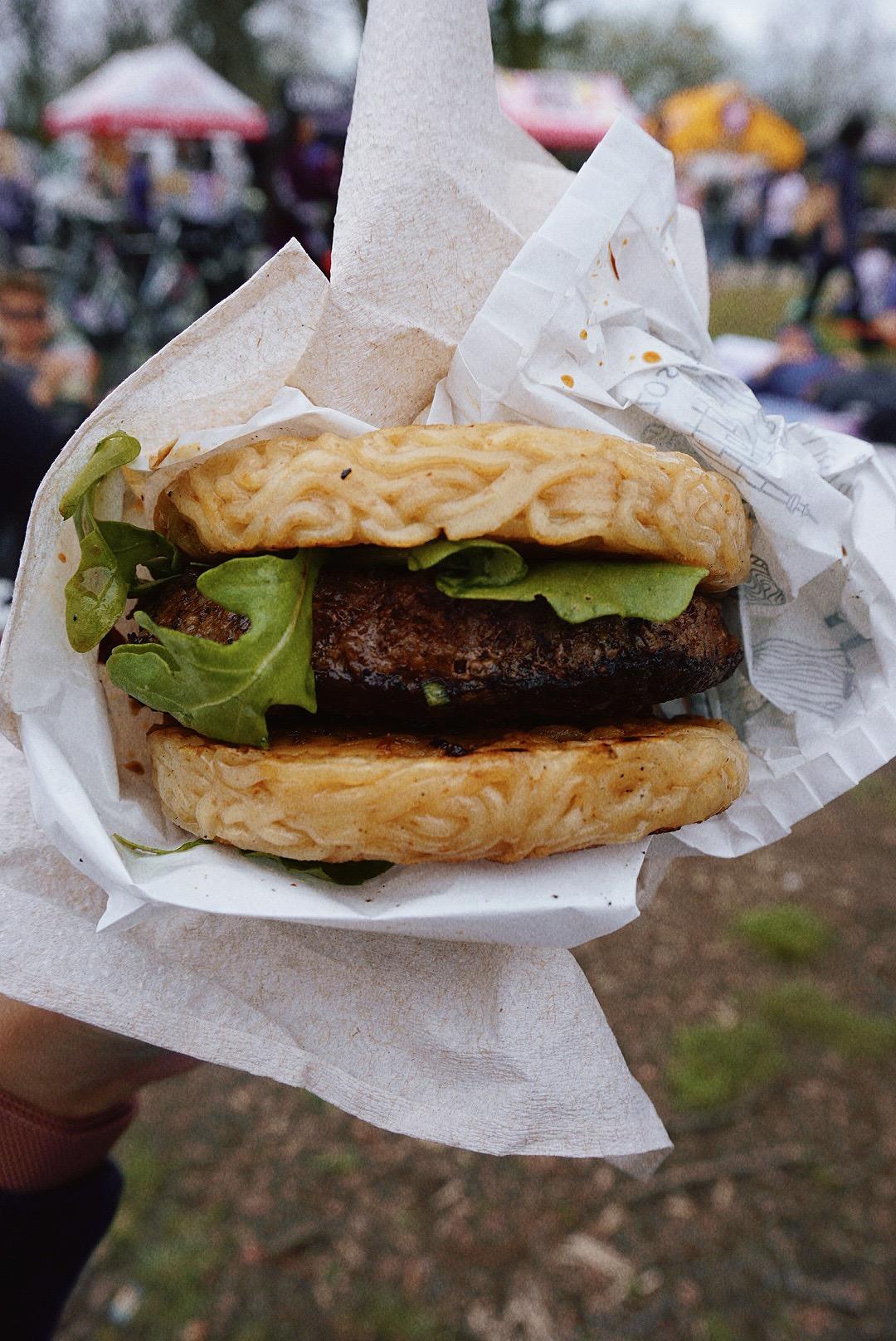 Ramen Burger from Ramen Burger by Keizo Shimamoto