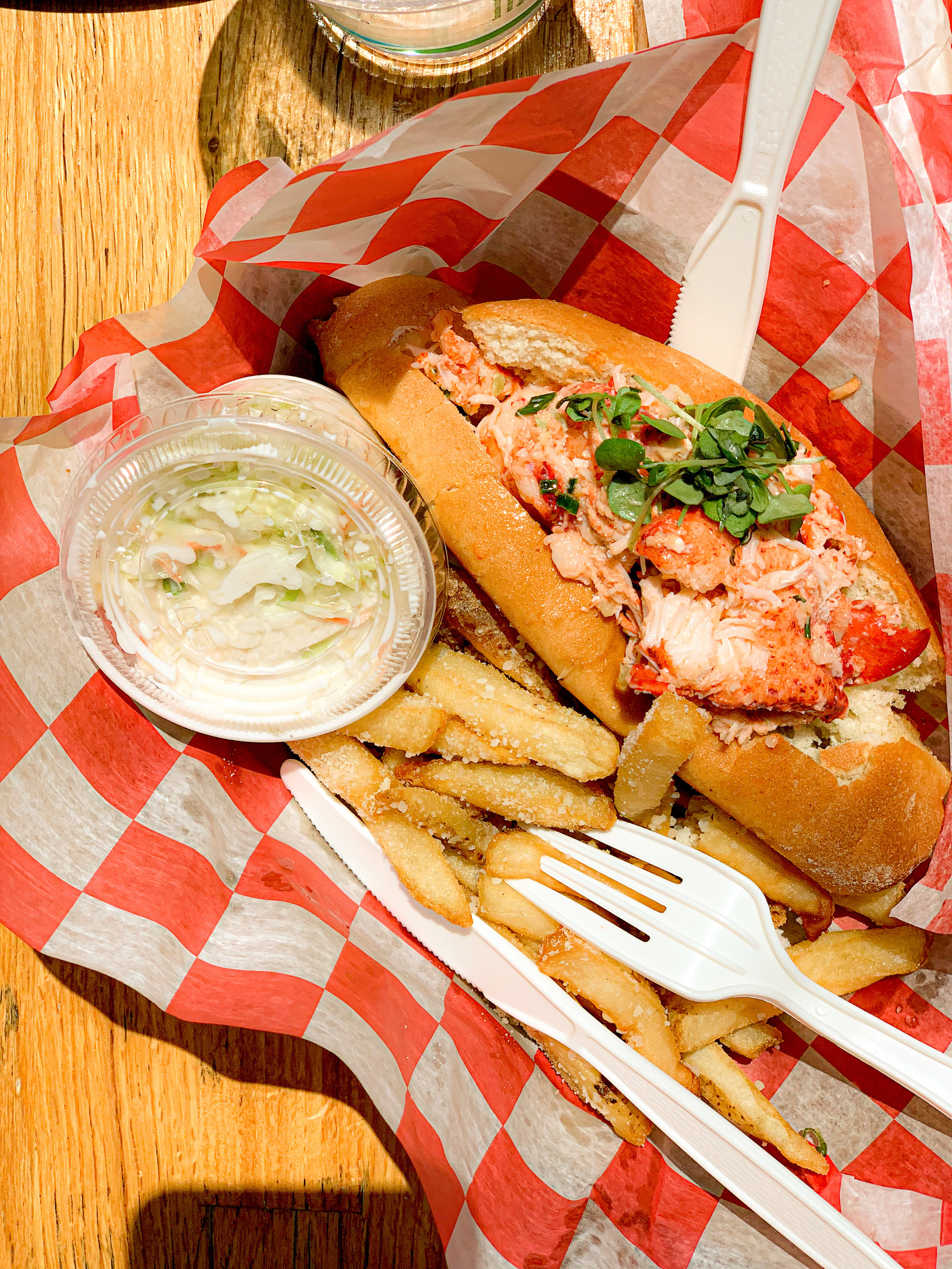 Experienced a lobster roll on a ferry floating through Hudson River