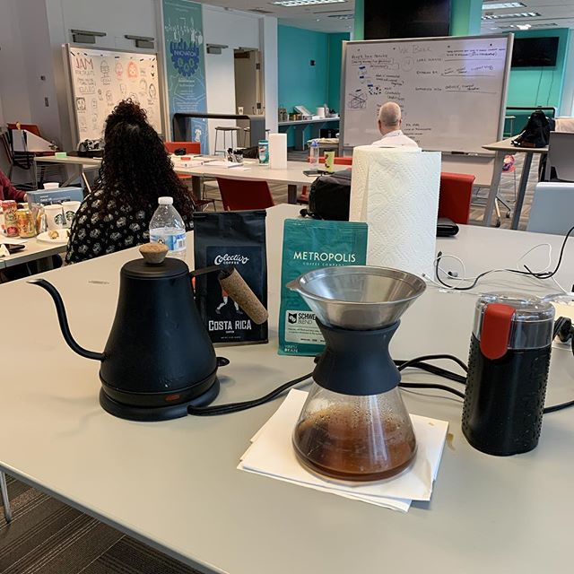 Day 3 of the #gsjam requires a little pour over service.
