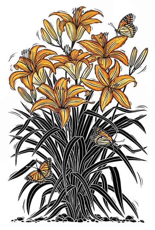 Jill-Bergman-Lilies-Linocut.jpg