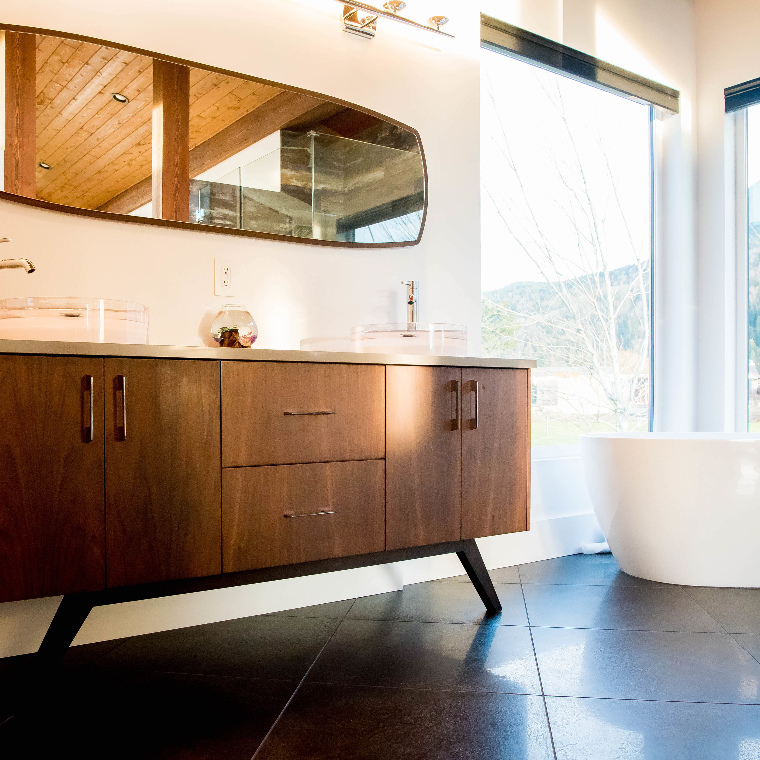 BATHROOMS - Bathe, freshen up. Do what you do. We'll build the cabinets.