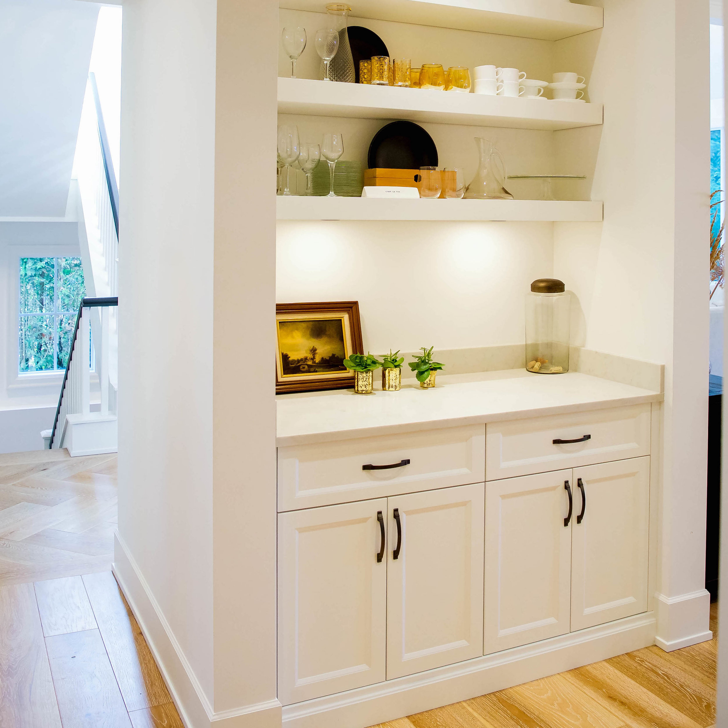 CUSTOM MILLWORK - Custom cabinets can provide elegance throughout your home or office.