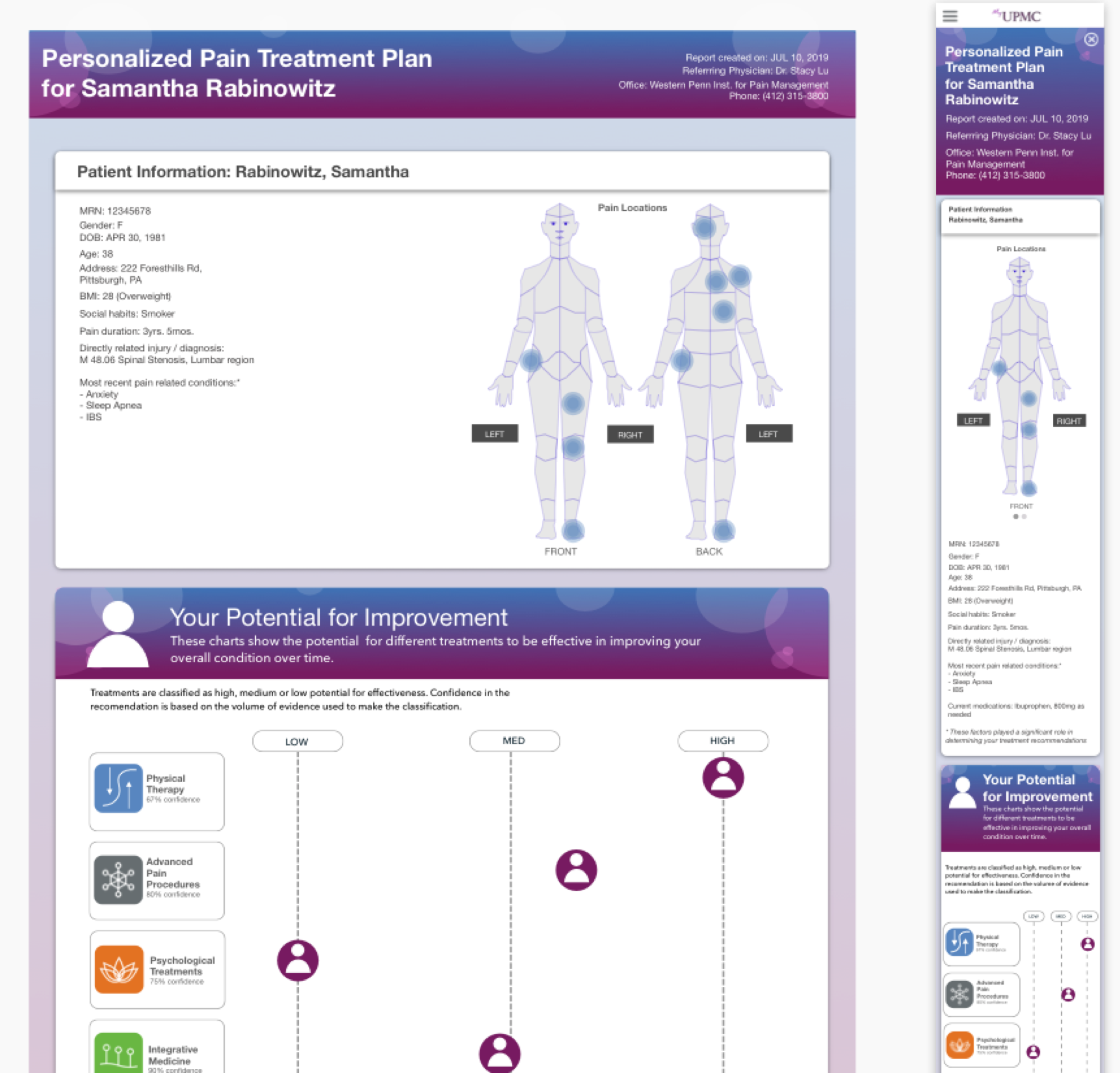 Personalized Pain Treatment - Explore my most recent project where I'm supporting design and research for a software tool that encourages shared decision-making between doctor and patient.