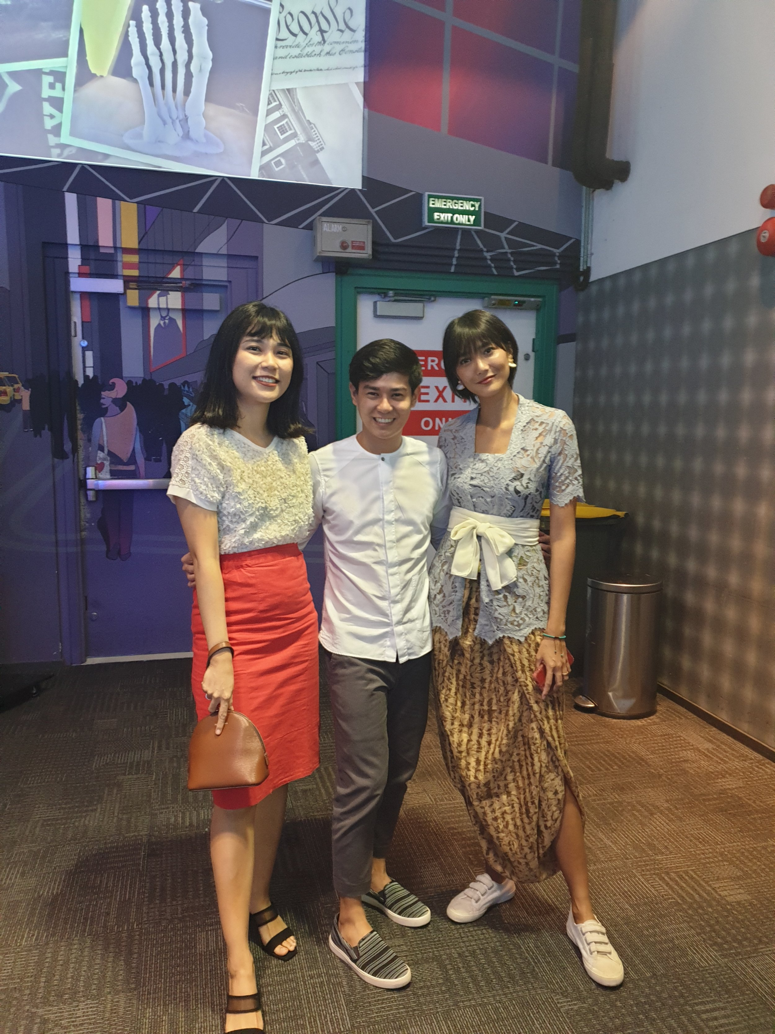 With Amanda of Tukar Baju (left) and Dominique Diyose, Co-founder of Bali Swap and Model