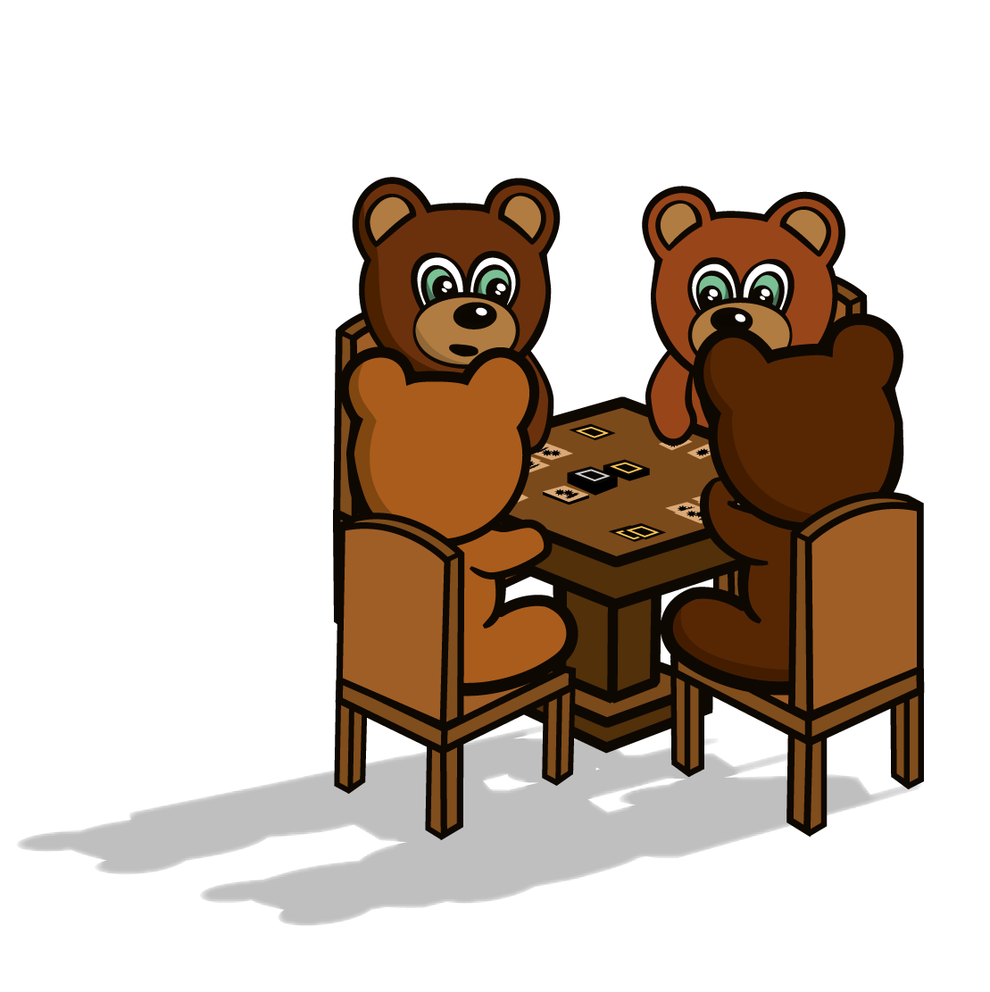 2 - 4 Players - Lonely Bears is ideally suited for 2 - 4 players, though more can play with additional packs!
