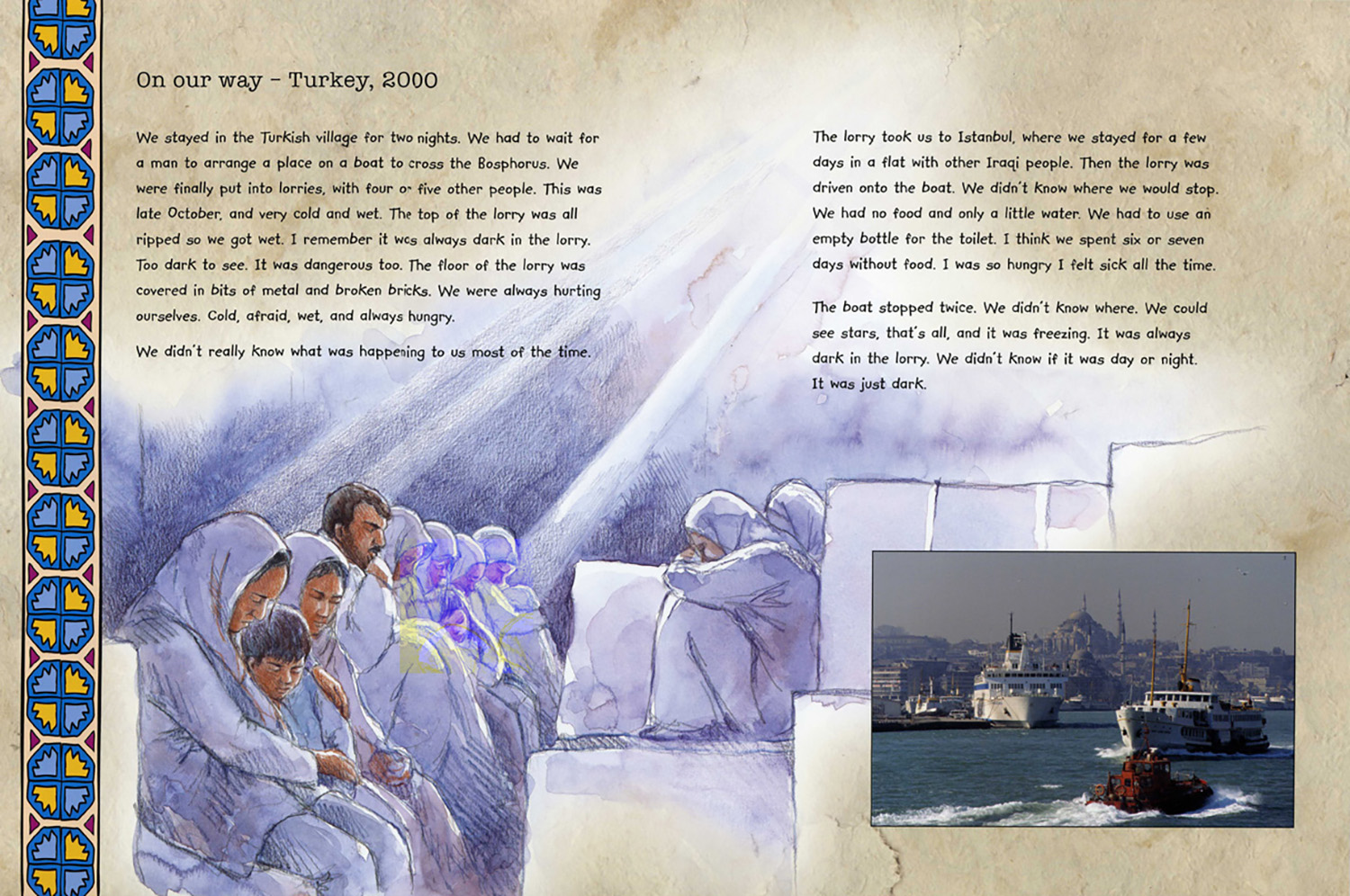 Escape in back of a lorry from 'Mohammed's Journey'