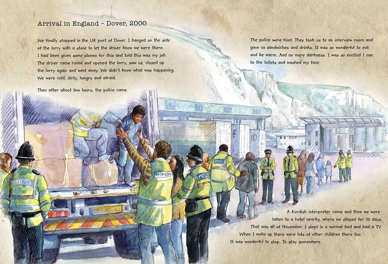 Arriving in Dover from 'Mohammed's Journey'