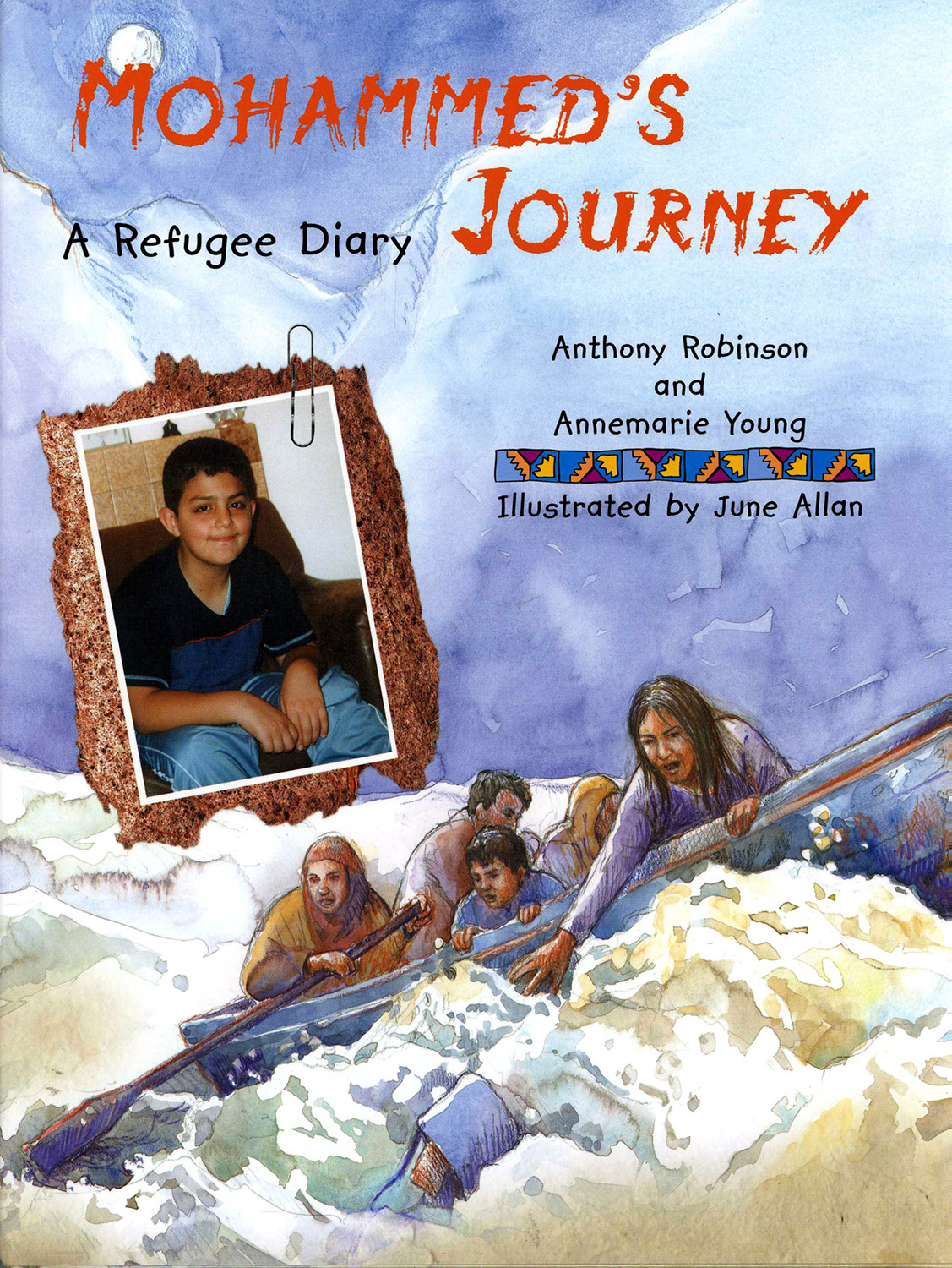 Front cover for 'Mohammed's Journey' by Anthony Robinson published by Frances Lincoln Ltd.