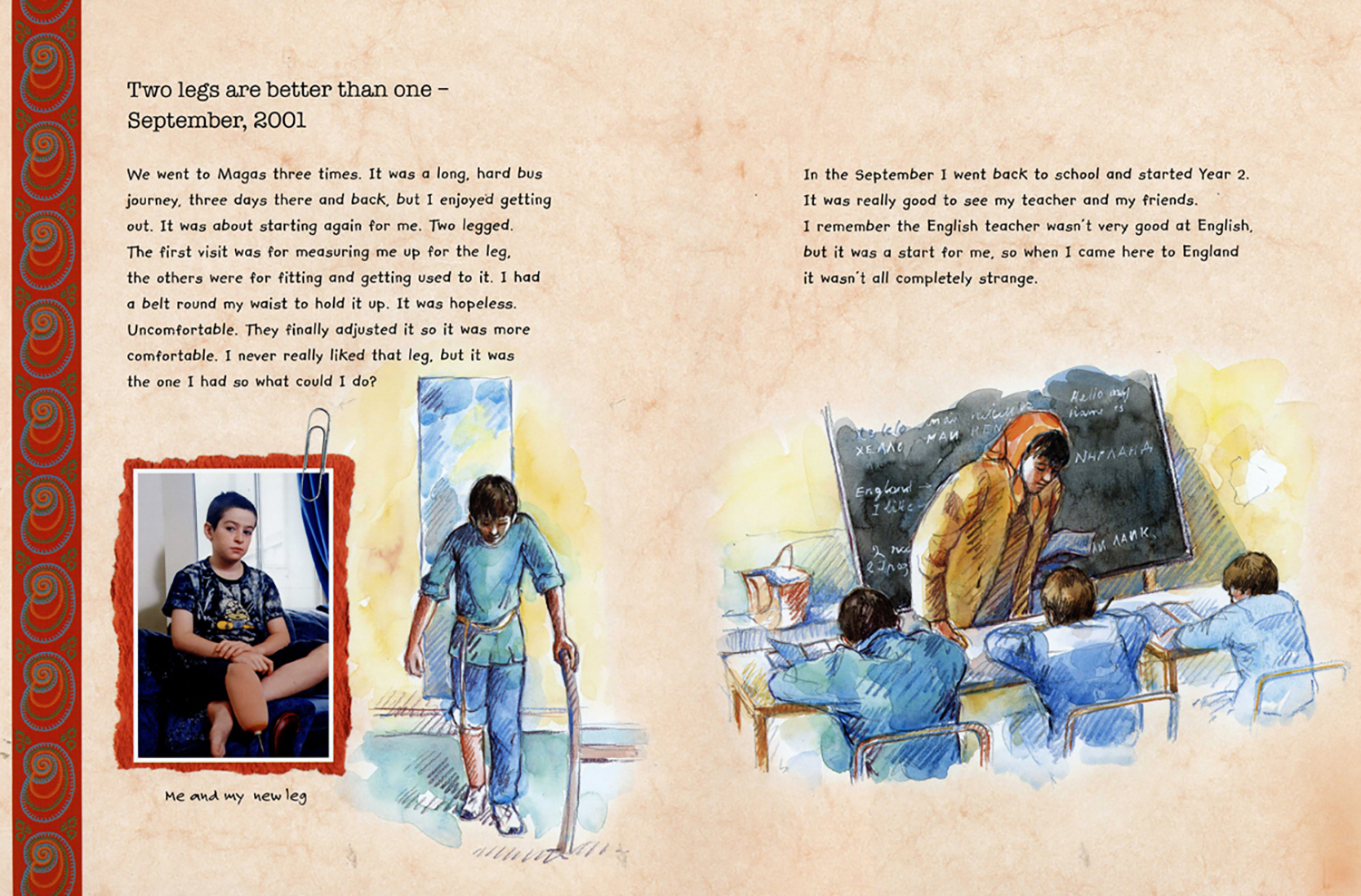 'Hamzat's Journey' by Anthony Robinson published by Frances Lincoln Ltd.