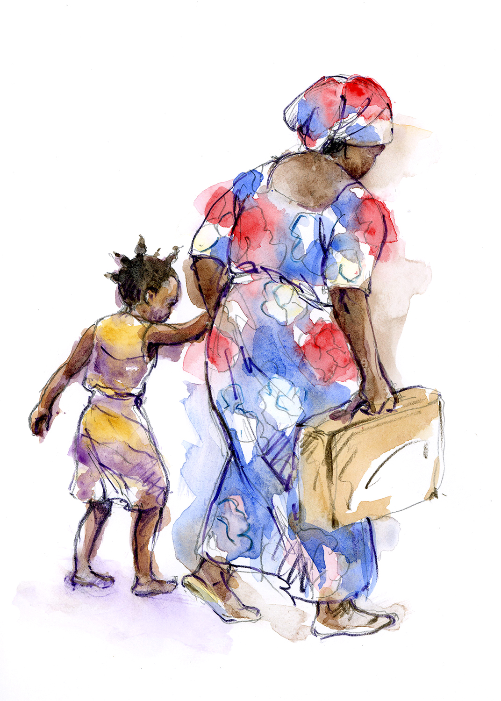 Fleeing the Congo Gervalie and Grandma