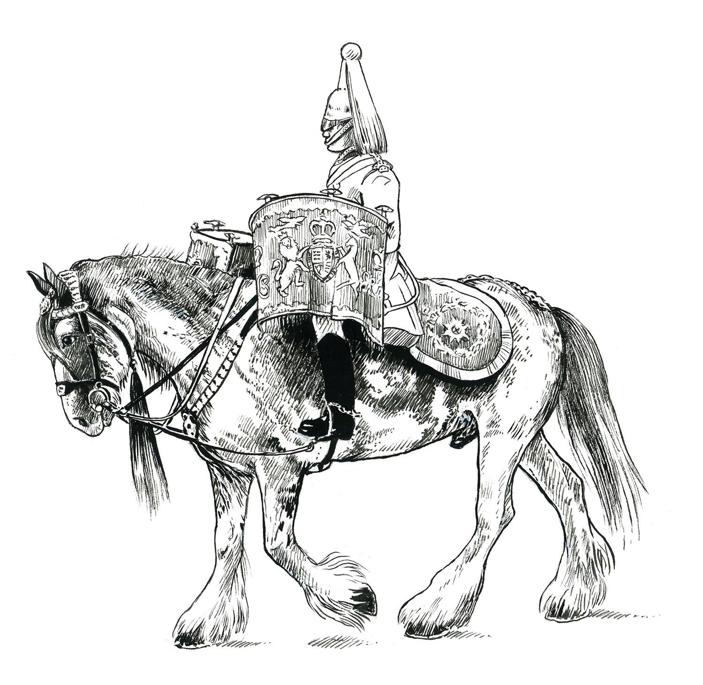 Drumhorse Household Cavalry
