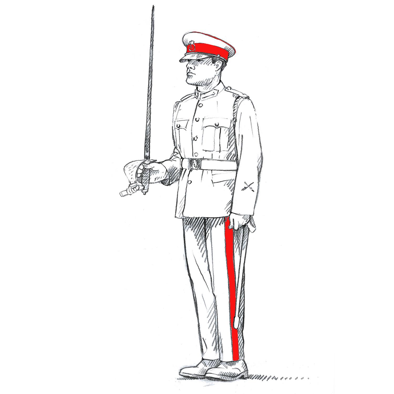 Officer Cadet 'On Parade'
