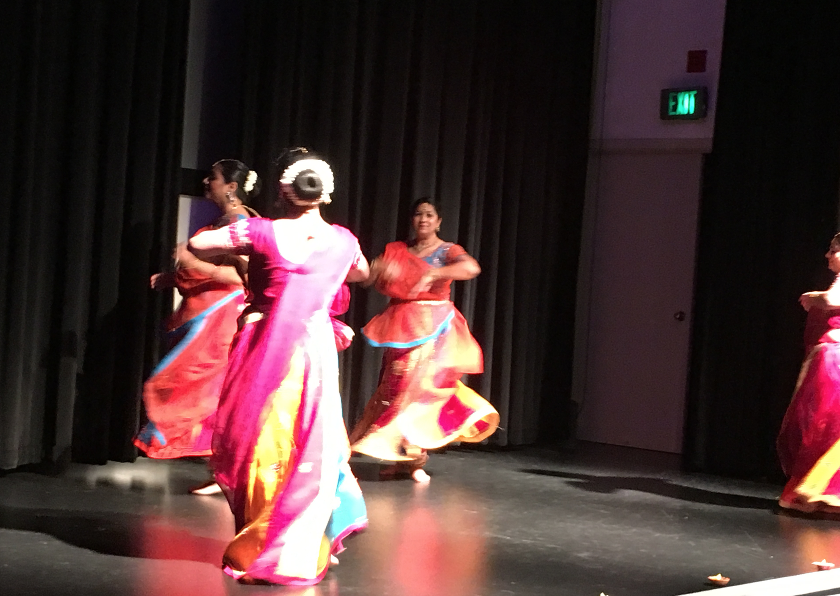 Kathak students perform at the Children's Museum, 2017