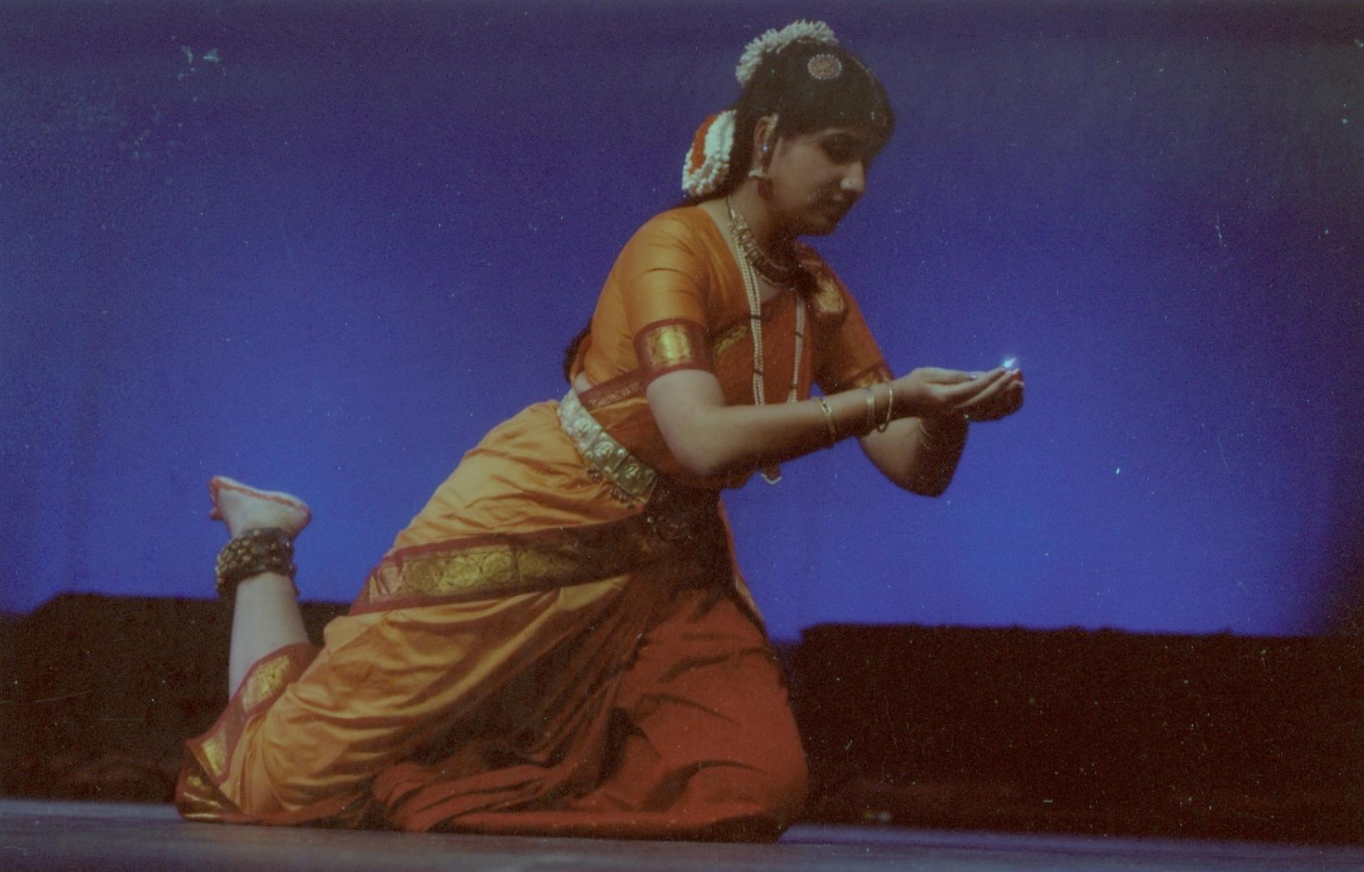 Lavanya performs at Carnegie Mellon University, Pittsburgh, in 2002.