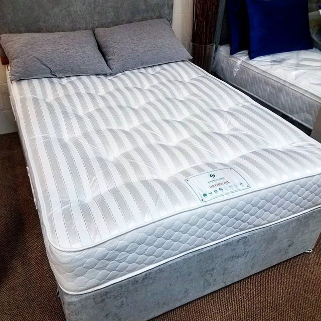 Brand new offer now in, complete bed set reduced by £100.  Orthocoil deluxe bed COMPLETE Set. Includes 2 drawers and a headboard as standard. Only £295 including delivery and setup. One color choice shown in picture available.  Delivery within 14 days.  Don't let a comfy sleep be in your dreams!  Like our page to be the first to see our upcoming deals on carpets and beds  Https://facebook.com/ClayhillCarpets . . . . . . . . . . . . . . . .  #bed #bedsneston #bedsale #bargain #cheapbed #salenseston #nestonsale #bargainbeds