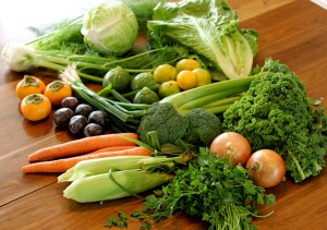 Eating a rainbow of vegetables helps protect the skin from damaging inflammation.