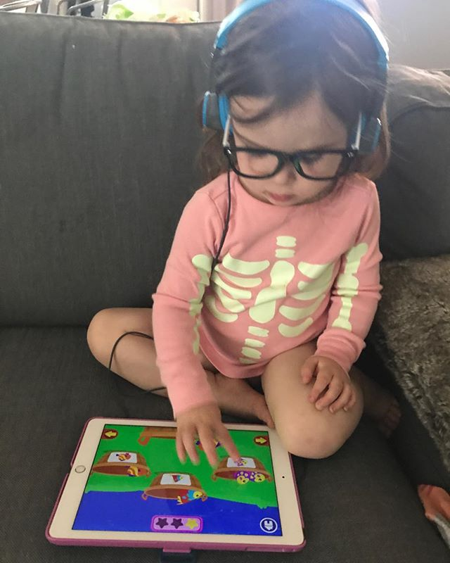 When I work, #toddlerkate works. With glasses and headphones, of course.