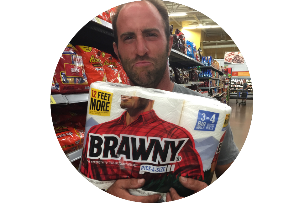 "The Husband  Jack-of-all-trades, Brawny-Man doppelgänger. Also answers to "" Baaaabe! """