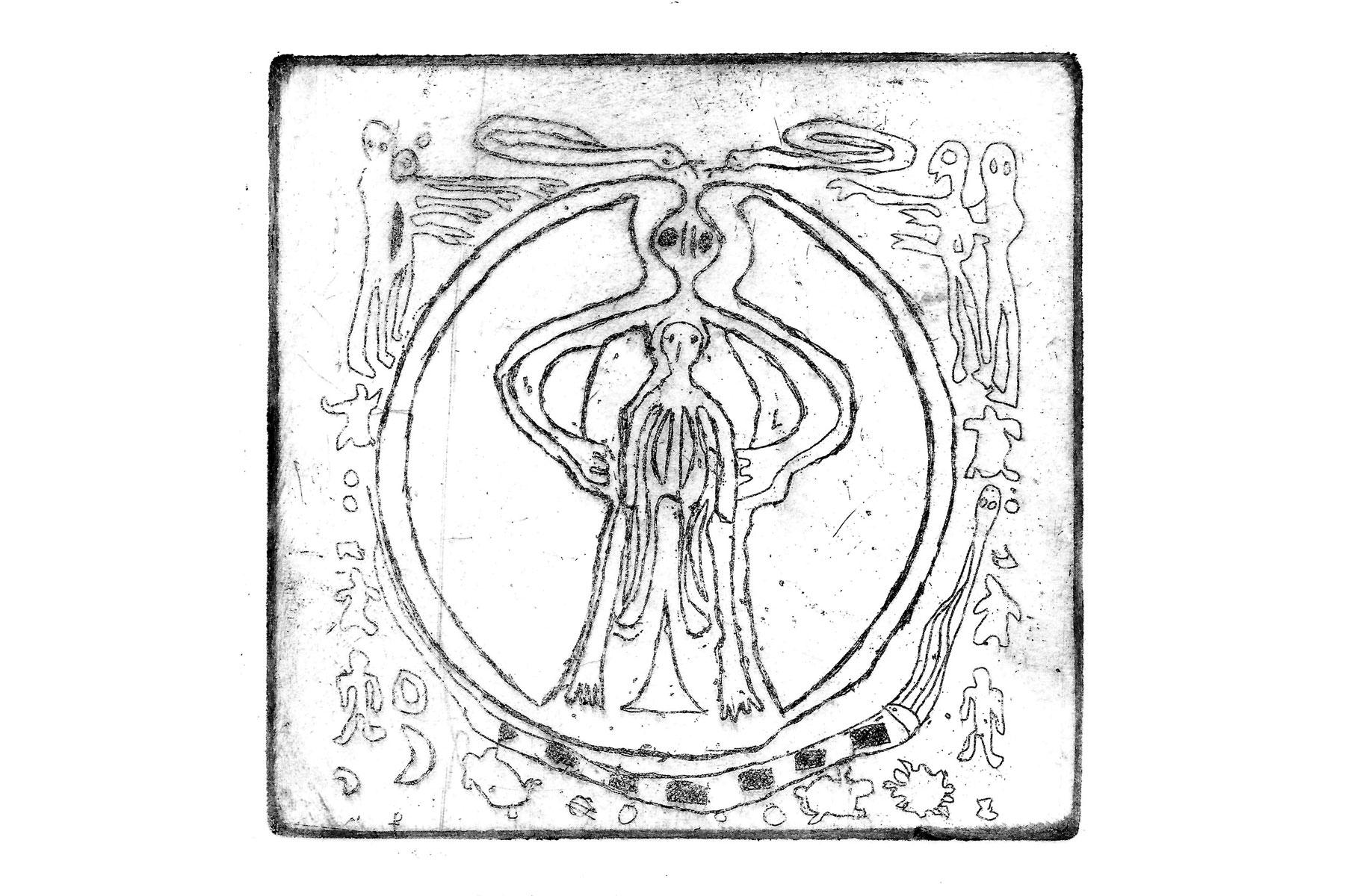 intaglio copper etching print