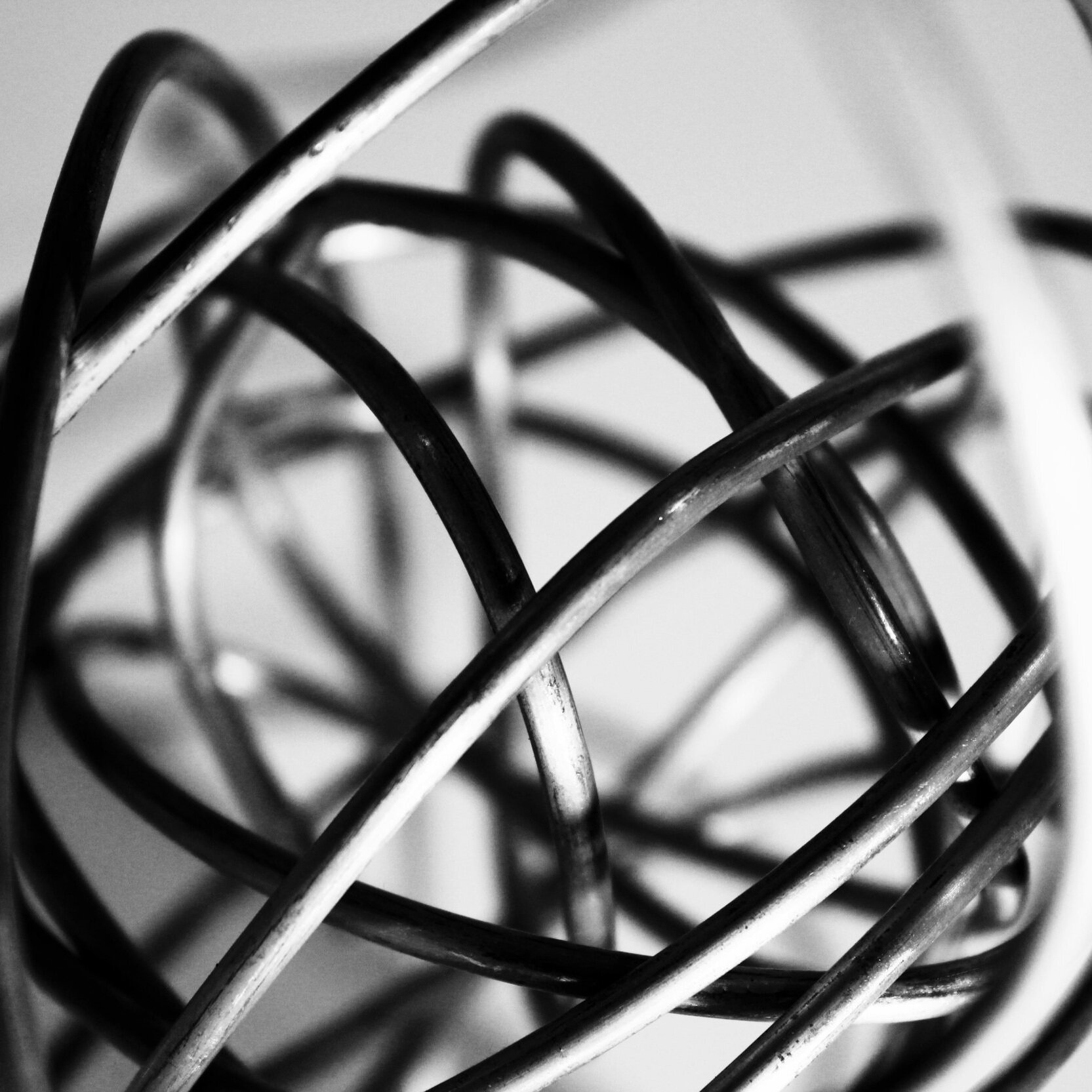 B&W - mixed media experiments exploring motion & emotion