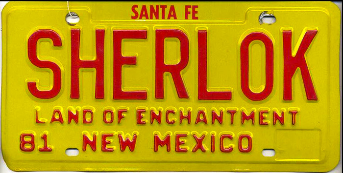 It was easy to spot John Shaw's car in New Mexico.