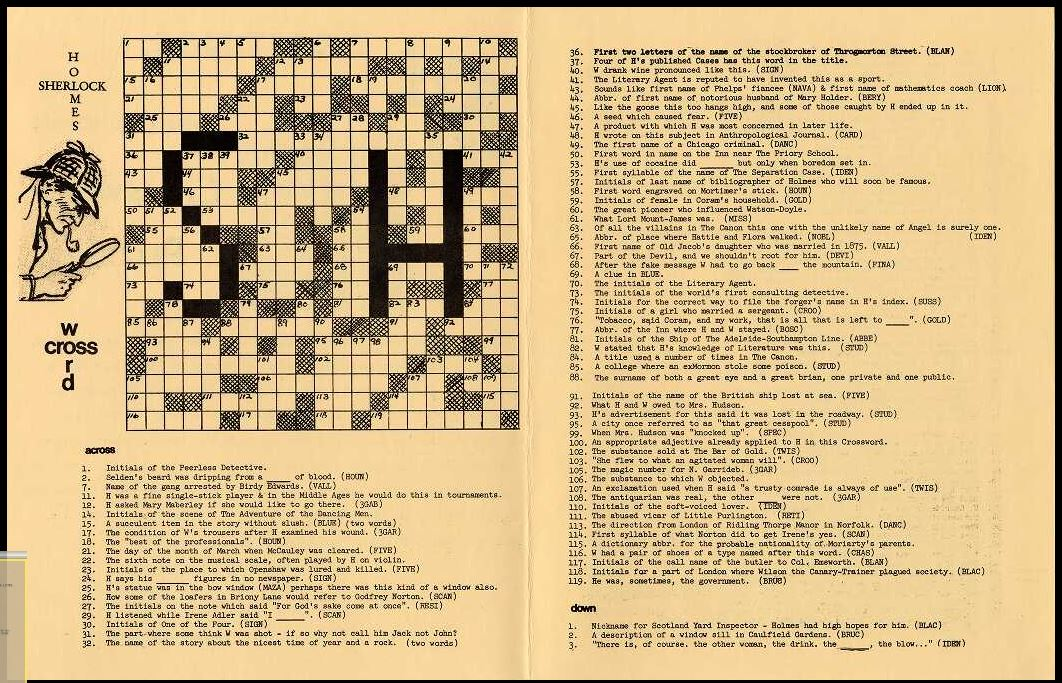 And this is the crossword greeting card designed by Dorothy Rowe Shaw in 1971.