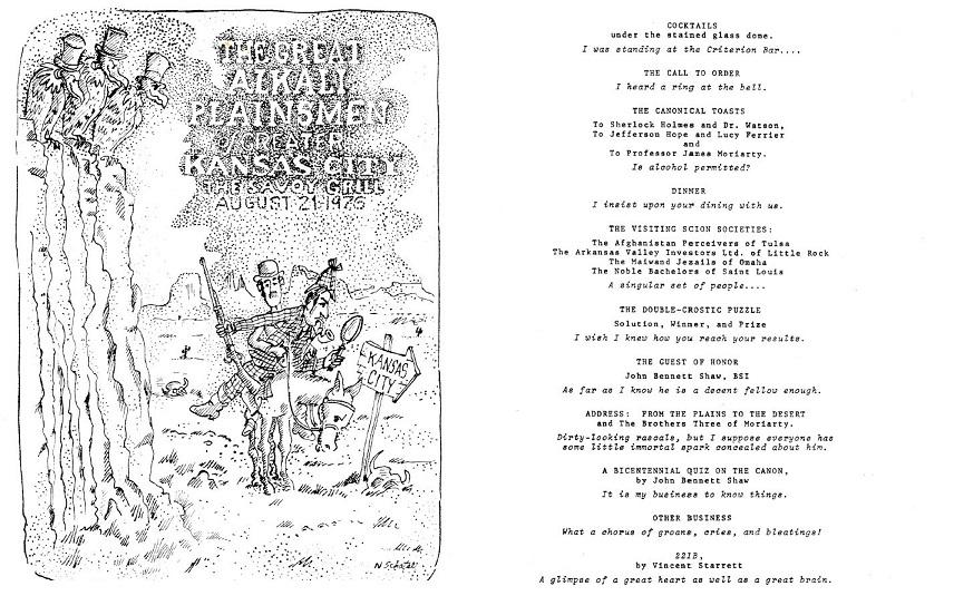 Scanned program for the Great Alkali Plainsmen meeting August 21, 1976.