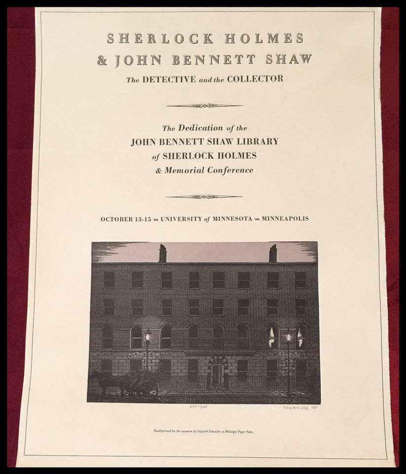 Poster for the October 1995 dedication of the John Shaw Collection