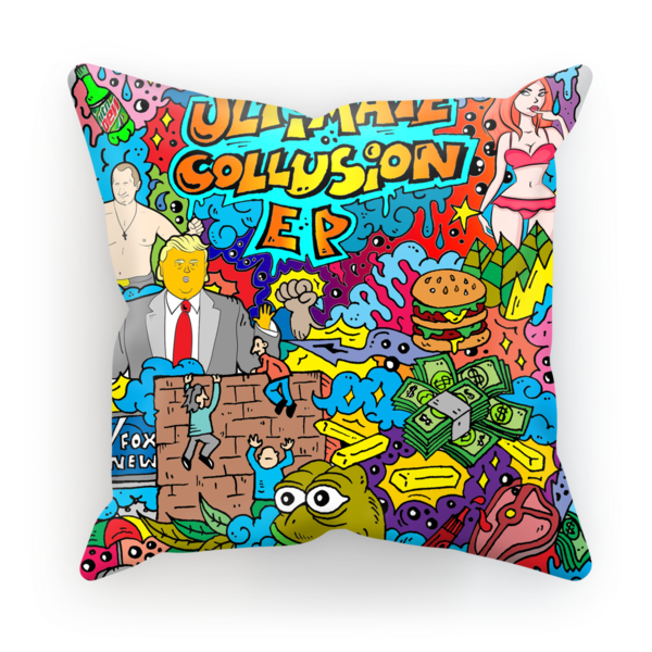 Collusion Pillow - When they ask you how you sleep at night, just show them THIS$23.99/1570.93₽