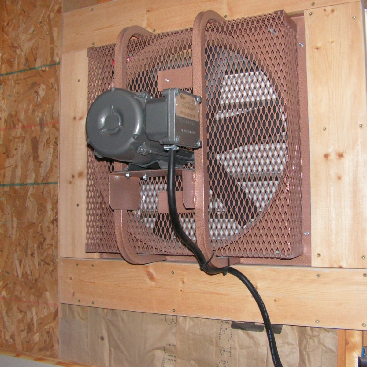 This simple fan can pull CO2 and other pollutants out of the attached garage.