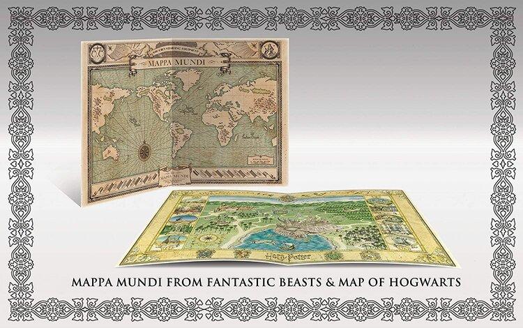 Wizarding World 10-Film Collection 2019 Blu-Ray Mappa Muni from Fantastic Beasts & Map of Hogwarts.jpg