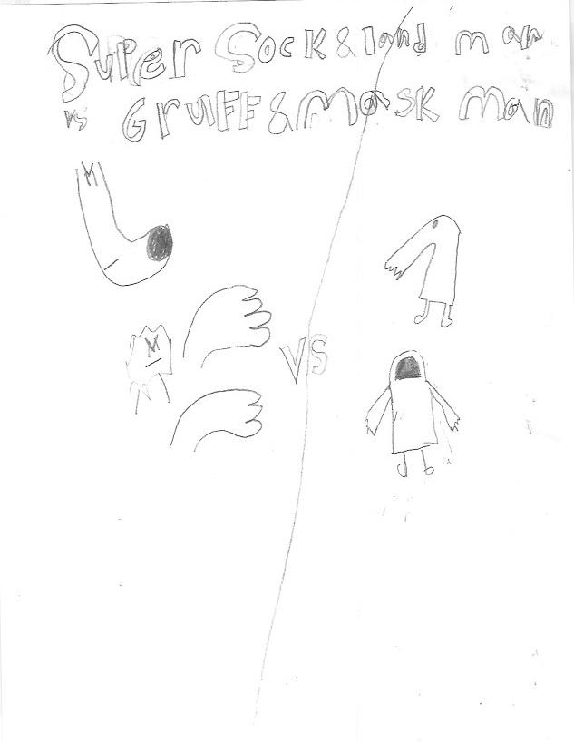 Super Sock & Land Man vs Gruff & Mask Man