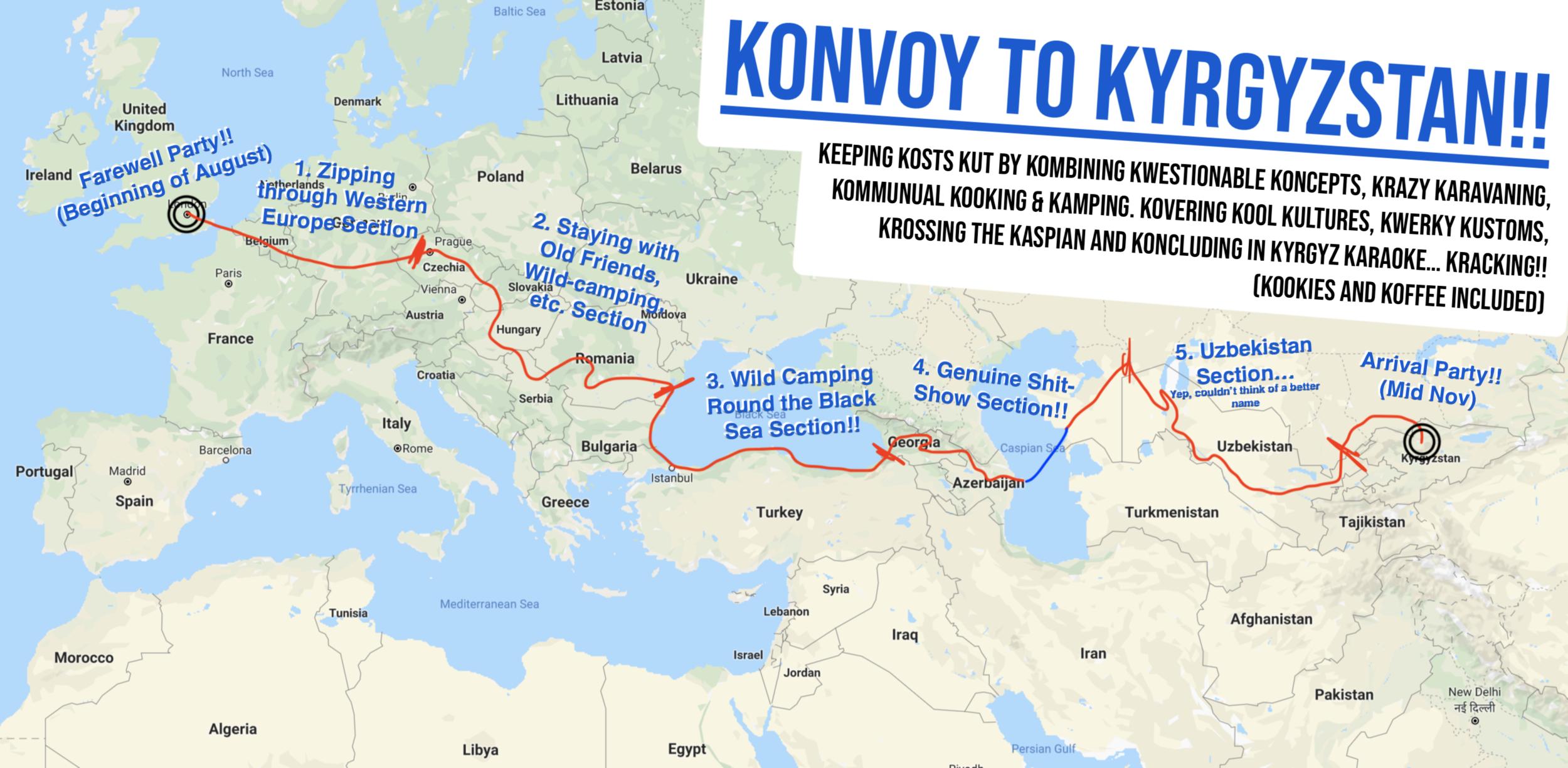 THE KONVOY TO KYRGYZSTAN - Early August to Mid-November, 2019Eurasia