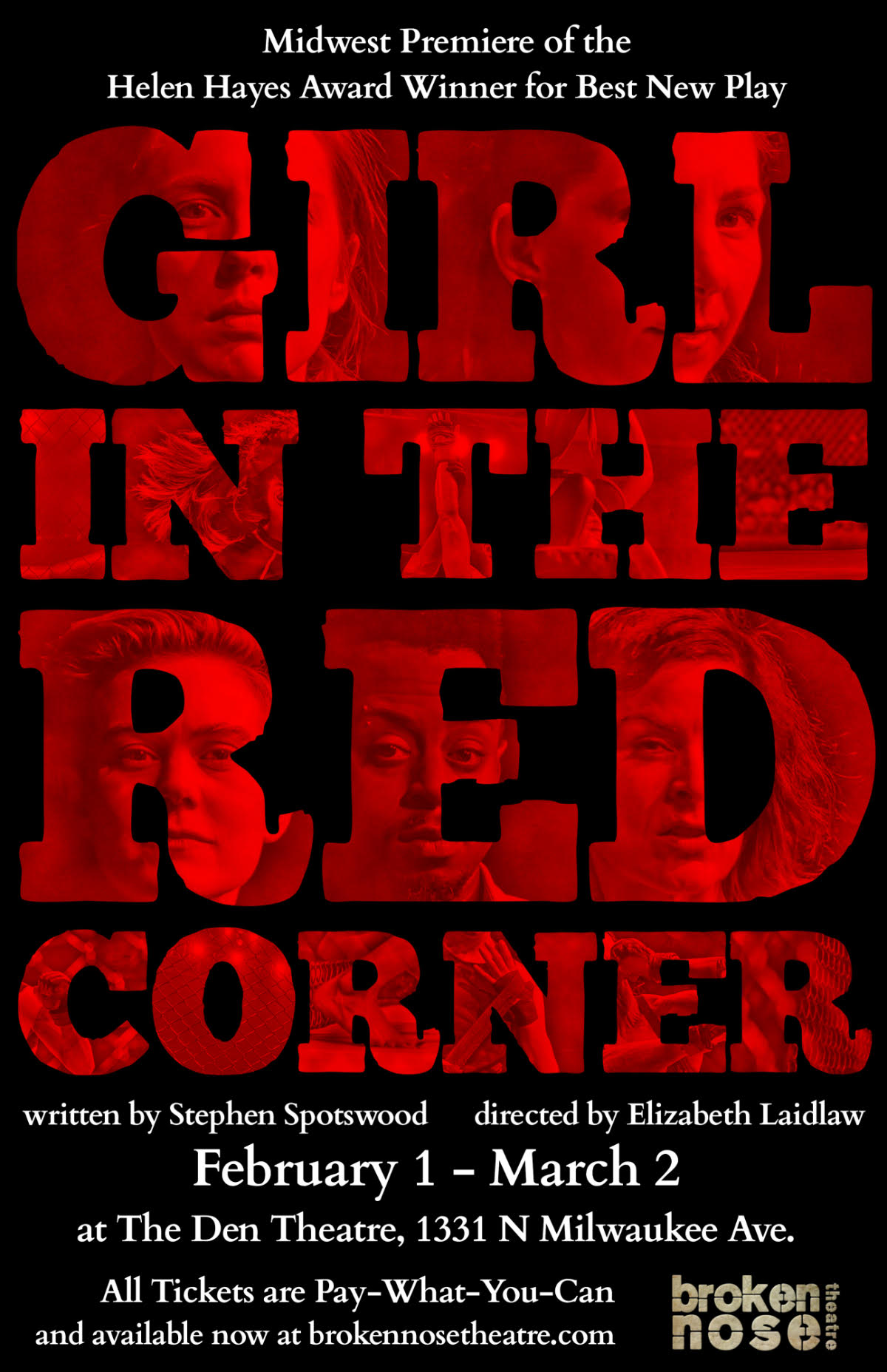 GIRL IN THE RED CORNER.   Midwest Premiere.