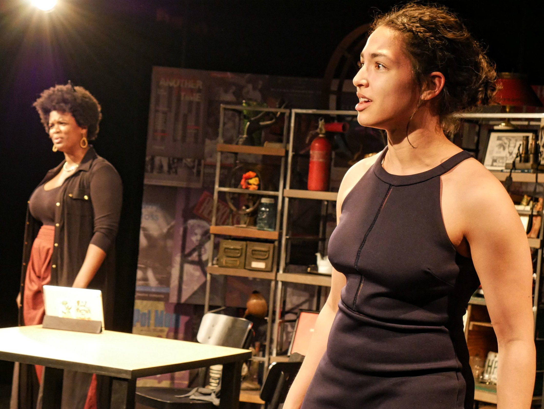 """For the Culture"" from    Bechdel Fest 7: Revolution    at    Steppenwolf Theatre's 1700    space. (Photo by Spenser Davis)"