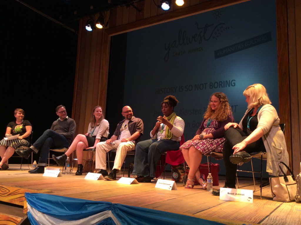 "Speaking on the ""History is So Not Boring"" Panel - Yallwest 2016"