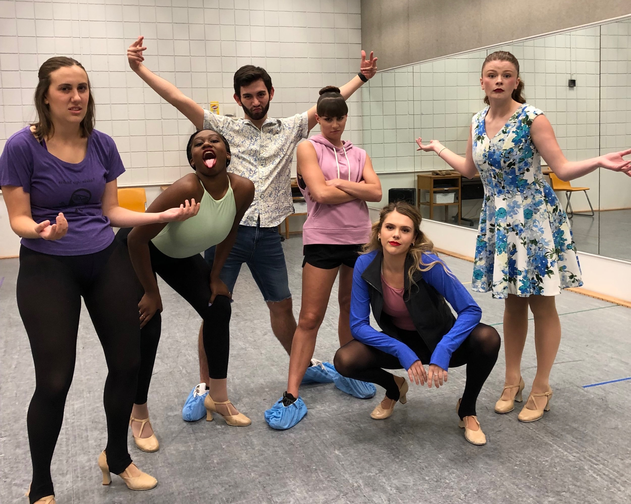 Student Choreography Show 2019 - This fall I have been given the amazing opportunity to choreograph for the annual Student Choreograph Show with the Ann Lacy School of American Dance and Entertainment. The Show is October 11th at 6:30 and 9:00 PM. Hope to see you there!Pictured left-right: Ashley Freeman, Maya Momon, Thomas Olson, Mallory Seidlitz, Claire Griese, Kendall Dorrough