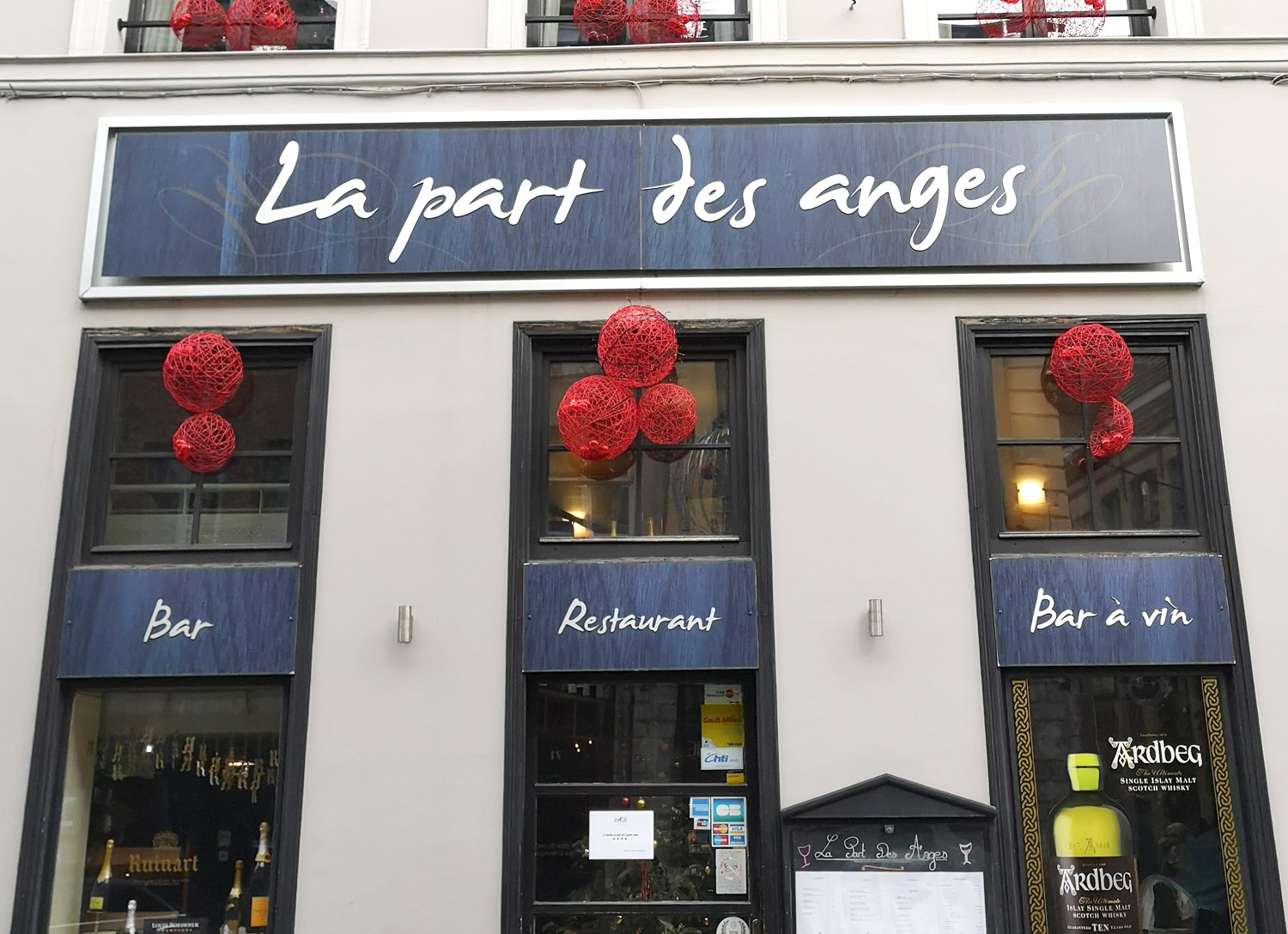 Bar à vin  La Part des Anges