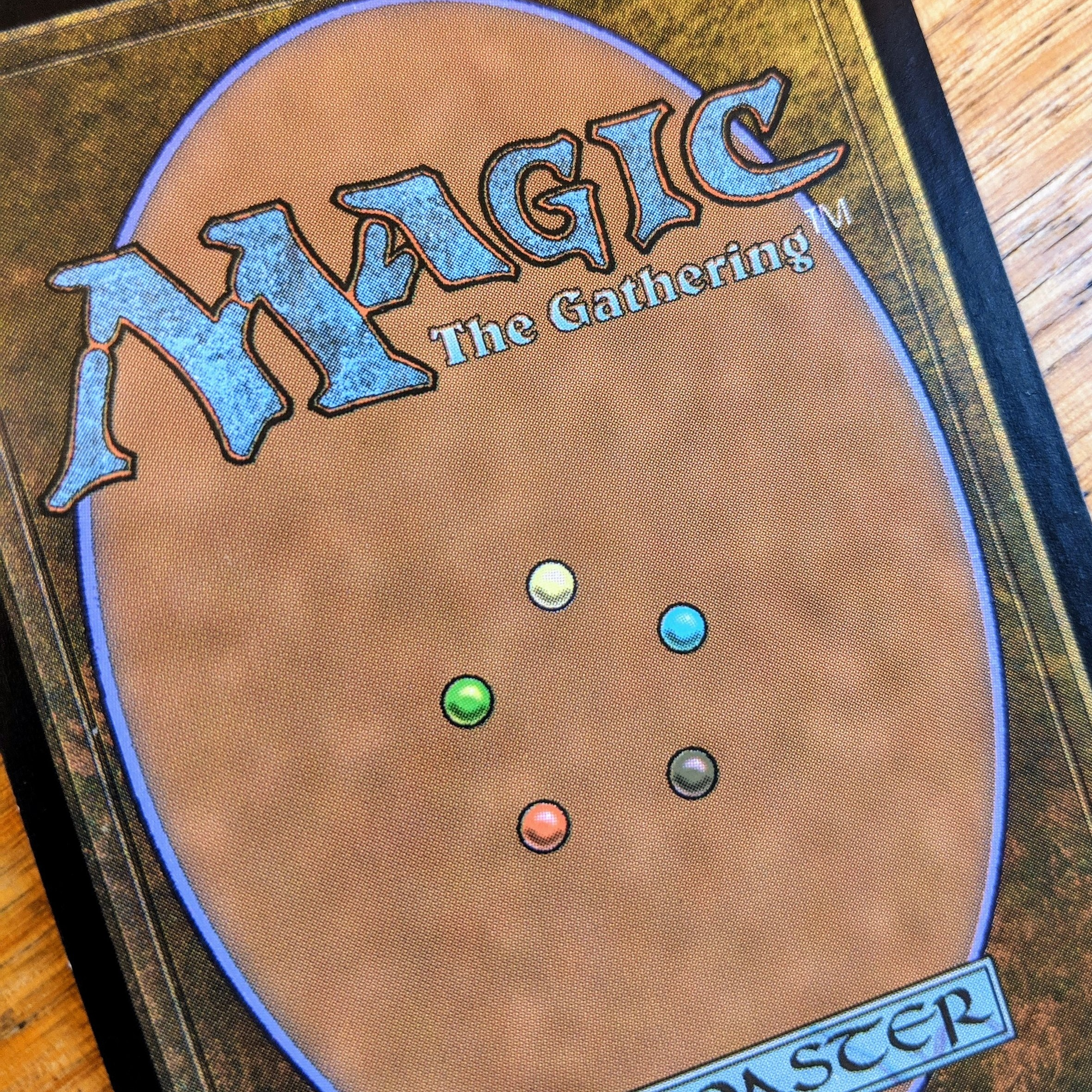 The color wheel is printed on the back of every Magic card.