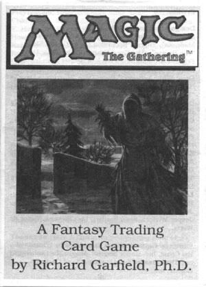 Front cover of Magic: The Gathering original rulebook, circa 1993
