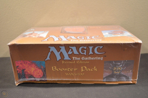 A fresh, sealed booster box of Revised Edition ready to change MTG forever.
